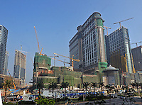 "New Casino's are built on the Cotai strip, on land reclaimed between Taipa and Coloane in Macau, 25th October 2008.  Macau is known simply as ""Vegas"" in China. The former Potuguese colony, now a Chinese Special Administrative Region, attracts millions of Chinese gamblers annually and last year earned more gambling dollars than Las Vegas."