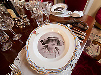 BNPS.co.uk (01202 558833)<br /> Pic: PhilYeomans/BNPS<br /> <br /> Gladys Deacon was the 9th Duke's secound American wife - towards the end of their marriage she took a revolver to dinner. A startled guest asked: 'Duchess, what are you going to do with that?' — to which she replied: 'Oh, I don't know! I might just shoot Marlborough!'<br /> <br /> Let's Misbehave - A fascinating insight into the heady world of the upper classes in the roaring twenties has opened at Blenheim Palace.<br /> <br /> The 9th Duke of Marlborough and his second wife, American intellectual Gladys Deacon, were lavish hosts at the baroque Oxfordshire Palace.<br /> <br /> Their frequent house parties in a time of great social, artistic and political change were attended by friends as diverse as Winston Churchill, Edith Sitwell, Jacob Epstein and Bloomsbury set founders Lytton Strachey and Virginia Woolf.<br /> <br /> The exhibition showcases their lavish lifestyles in a series of scenes within the Palaces elegant State Rooms.<br /> <br /> Actors portraying the leading characters interact with the visiting public to give a flavour of the famously decadent decade.