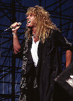 David Coverdale of Whitesnake performs at Texas Jam in Dallas Texas US 1987