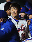 Daisuke Matsuzaka (Mets),<br /> SEPTEMBER 14, 2013 - MLB :<br /> Daisuke Matsuzaka of the New York Mets in the dugout during the second game of a Major League Baseball doubleheader against the Miami Marlins at Citi Field in Flushing, New York, United States. (Photo by AFLO)