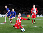 Antoine Griezmann of Atletico Madrid just fills to connect during the Champions League Group C match at the Stamford Bridge, London. Picture date: December 5th 2017. Picture credit should read: David Klein/Sportimage