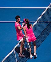 AGNIESZKA RADWANSKA (POL), CARLA SU&Aacute;REZ NAVARRO (ESP)<br /> <br /> TENNIS - GRAND SLAM ITF / ATP  / WTA - Australian Open -  Melbourne Park - Melbourne - Victoria - Australia  - 26 January 2016<br /> <br /> &copy; AMN IMAGES