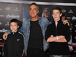 HOLLYWOOD, CA - APRIL 11: Titus Welliver and sons attend the World premiere of 'Marvel's Avengers' at the El Capitan Theatre on April 11, 2012 in Hollywood, California.