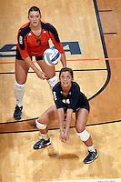 SAN ANTONIO, TX - SEPTEMBER 26, 2014: The University of Texas at San Antonio Roadrunners defeat the Florida Atlantic University Owls 3-1 (27-25, 25-20, 17-25, 27-25) at the UTSA Convocation Center. (Photo by Jeff Huehn)