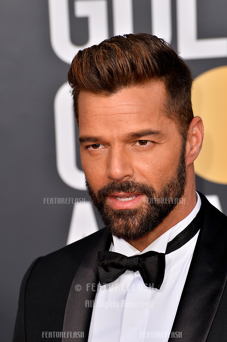 LOS ANGELES, CA. January 06, 2019: Ricky Martin at the 2019 Golden Globe Awards at the Beverly Hilton Hotel.<br /> Picture: Paul Smith/Featureflash