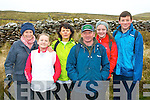 About to climb Mount Brandon last Sunday in the first ever Brendan McEvoy memorial walk organised by his wife Claire and Brendan's sisters in aid of Kerry Hospice were l-r: Jacqueline O'Mahony, Aoife and Jane O'Donoghue, Des O'Dowd, Fiona Kavanagh and Conor O'Donoghue, all Tralee.