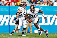January 01, 2011:   Mississippi State Bulldogs quarterback Chris Relf (36) rolls out to pass during first half action during the Progressive Gator Bowl action between the Mississippi State Bulldogs and the Michigan Wolverines at EverBank Field in Jacksonville, Florida.