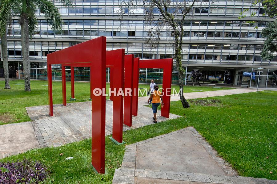 Portal na Universidade de São Paulo, USP. São Carlos. São Paulo. 2008. Foto de Juca Martins.