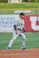 Javy Guerra (5) of the El Paso Chihuahuas during the game against the Salt Lake Bees at Smith's Ballpark on July 5, 2018 in Salt Lake City, Utah. El Paso defeated Salt Lake 3-2. (Stephen Smith/Four Seam Images)