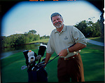 Jimmy Ballard Golf Pro at his home course in Key Largo at the Surf Club, Florida.