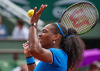 Paris, France, 28 June, 2016, Tennis, Roland Garros, Serena Williams (USA)<br /> Photo: Henk Koster/tennisimages.com