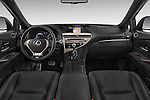 Stock photo of straight dashboard view of a 2015 Lexus RX F Sport 5 Door SUV 2WD Dashboard