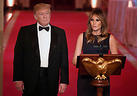 United States President Donald J. Trump and First lady Melania Trump attend a White House Historical Association dinner at the White House, May 15, 2019, in Washington, DC. The organization's goal is to promote the public's understanding, appreciation and enjoyment of the White House. <br /> CAP/MPI/CNP/MT<br /> ©MT/CNP/MPI/Capital Pictures