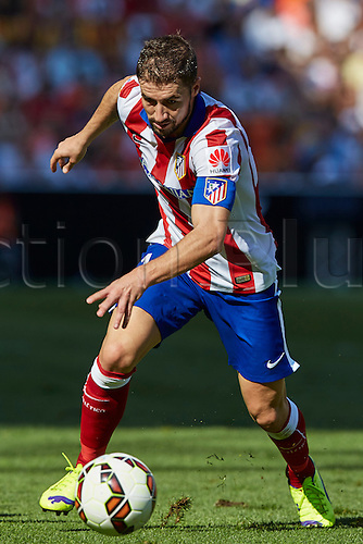 04.10.2014. Valencia, Spain. La Liga. Valencia CF versus Athletico Madrid. Midfielder Gabi Fernandez of Atletico Madrid in action