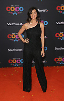HOLLYWOOD, CA - NOVEMBER 8: Courtney Laine Mazza, at The U.S. Premiere of Disney-Pixar's 'Coco' at the El Capitan Theatre in Hollywood, California on November 8, 2017. Credit: Faye Sadou/MediaPunch