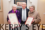 Two members of the Cahersiveen Branch of the Pioneer Total Abstinence Association with their presentations  in recognition of 70 years fidelity to the Pioneer Ideals, pictured here l-r; Bride Roper, Weeshie Fogarty & Mary Wharton.