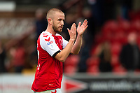 Fleetwood Town's Paddy Madden applauds the fans at the end of the match<br /> <br /> Photographer Richard Martin-Roberts/CameraSport<br /> <br /> The EFL Sky Bet League One - Fleetwood Town v Shrewsbury Town - Saturday 13th October 2018 - Highbury Stadium - Fleetwood<br /> <br /> World Copyright &copy; 2018 CameraSport. All rights reserved. 43 Linden Ave. Countesthorpe. Leicester. England. LE8 5PG - Tel: +44 (0) 116 277 4147 - admin@camerasport.com - www.camerasport.com