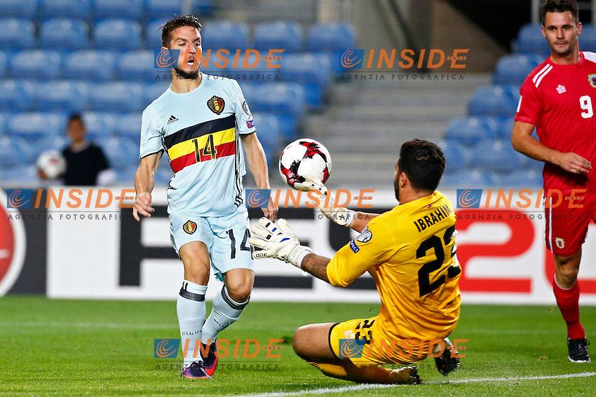 Mertens Dries forward of Belgium scores and celebrates   <br /> Faro 10-10-2016 Calcio Qualificazioni mondiali <br /> Gibilterra - Belgio <br /> Foto Photonews/Panoramic/Insidefoto <br /> ITALY ONLY