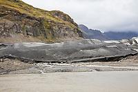 Gletscher, Gletscherzunge, Getscherfluß, Gletscherfluss, Skaftafellsjökull, Skaftafell National Park, Vatnajökull-Nationalpark, Südosten Island