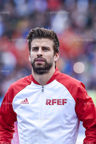 Gerard Pique Bernabeu (Spain) ; <br /> June 27, 2016 - Football : Uefa Euro France 2016, Round of 16; Italy 2-0 Spain at Stade de France; Saint-Denis, France. (Photo by aicfoto/AFLO)