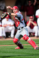 University of Hartford Hawks catcher Joe Roberti (16) during a game versus the Boston College Eagles at Pellagrini Diamond at Shea Field on May 9, 2015 in Chestnut Hill, Massachusetts. (Ken Babbitt/Four Seam Images)