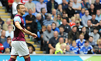 Aston Villa's John Terry shouts instructions out during the game <br /> <br /> Photographer Ian Cook/CameraSport<br /> <br /> The EFL Sky Bet Championship - Cardiff City v Aston Villa - Saturday August 12th 2017 - Cardiff City Stadium - Cardiff<br /> <br /> World Copyright &copy; 2017 CameraSport. All rights reserved. 43 Linden Ave. Countesthorpe. Leicester. England. LE8 5PG - Tel: +44 (0) 116 277 4147 - admin@camerasport.com - www.camerasport.com