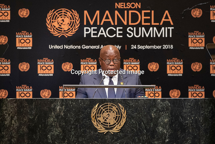 Opening Plenary Meeting of the Nelson Mandela Peace Summit<br /> <br /> <br /> Gana