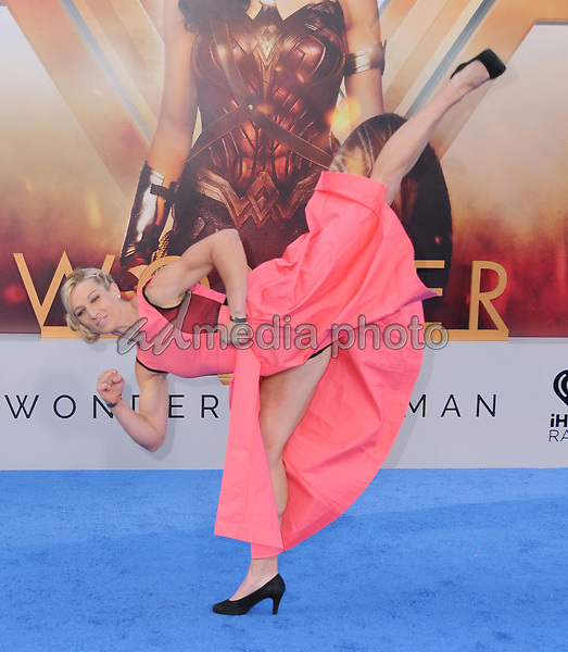 """25 May 2017 - Hollywood, California - Jessie Graff. World  Premiere of Warner Bros. Pictures'  """"Wonder Woman"""" held at The Pantages Theater in Hollywood. Photo Credit: Birdie Thompson/AdMedia"""