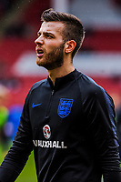 Norwich City's?(on loan from?Manchester City)  goalkeeper Angus Gunn (1) for England U21's during the International Euro U21 Qualification match between England U21 and Ukraine U21 at Bramall Lane, Sheffield, England on 27 March 2018. Photo by Stephen Buckley / PRiME Media Images.