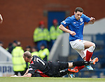 Lee Wallace caught by Kevin Nicholl