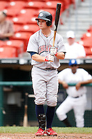 May 28, 2009:  Lehigh Valley IronPigs Right Fielder Jeremy Slayden at bat during a game vs. the Buffalo Bisons at Coca-Cola Field in Buffalo, NY.  The IronPigs are the International League Triple-A affiliate of the Philadelphia Phillies.  Photo by:  Mike Janes/Four Seam Images