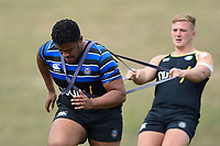 Simone Elrick of Bath Rugby in action. Bath Rugby pre-season training on August 8, 2018 at Farleigh House in Bath, England. Photo by: Patrick Khachfe / Onside Images