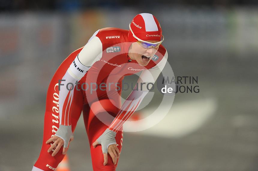 SCHAATSEN: AMSTERDAM: Olympisch Stadion, 01-03-2014, KPN NK Sprint/Allround, Coolste Baan van Nederland, Marije Joling, ©foto Martin de Jong