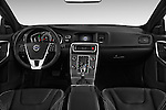 Stock photo of straight dashboard view of 2016 Volvo S60 R-Design 4 Door Sedan Dashboard