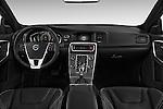 Stock photo of straight dashboard view of 2016 Volvo S60 R-Design 4 Door Sedan Dashboard