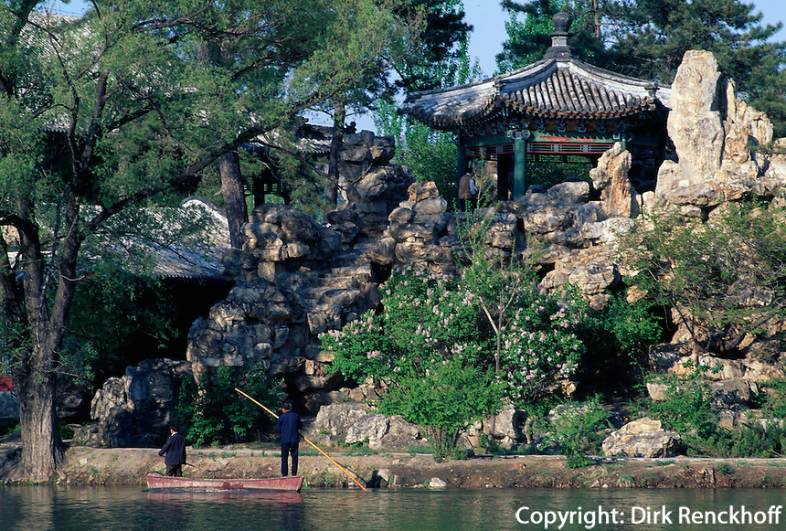 Sommerpalast, Pavillon am See, Chengde, China, Unesco-Weltkulturerbe