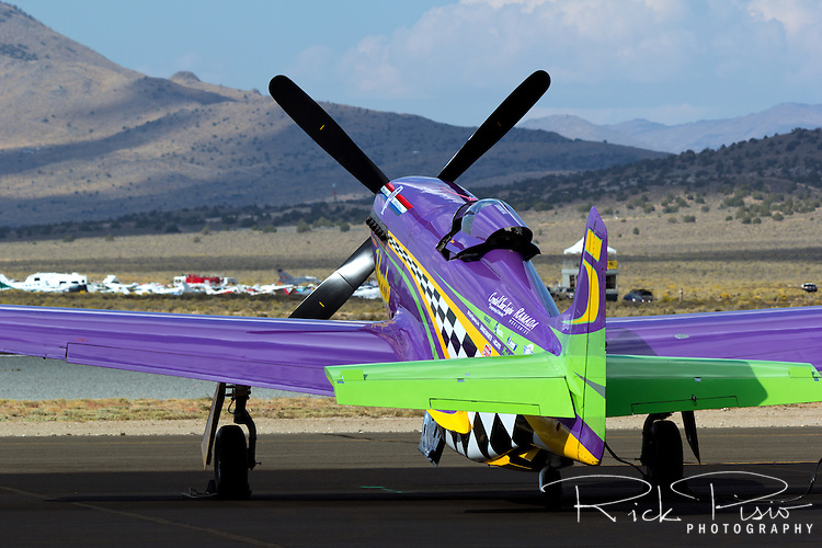 "P-51 Mustang Air Racer ""Voodoo"" sits on the ramp at the 2013 Reno National Championship Air Races."