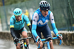 Marc Soler (ESP) Movistar Team attacks during a wet miserable Stage 8 of the 2018 Paris-Nice running 110km from Nice to Nice, France. 11th March 2018.<br /> Picture: ASO/Alex Broadway | Cyclefile<br /> <br /> <br /> All photos usage must carry mandatory copyright credit (&copy; Cyclefile | ASO/Alex Broadway)