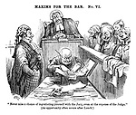 """Maxims for the Bar. No. VI. """"Never miss a chance of ingratiating yourself with the Jury, even at the expense of the Judge."""" (An opportunity often occurs after lunch)"""