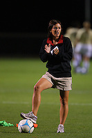 14 September 2007: Stanford Cardinal assistant coach Sarah Kate Noftsinger during Stanford's 3-2 win in the Stanford Invitational against the Missouri Tigers at Maloney Field in Stanford, CA.