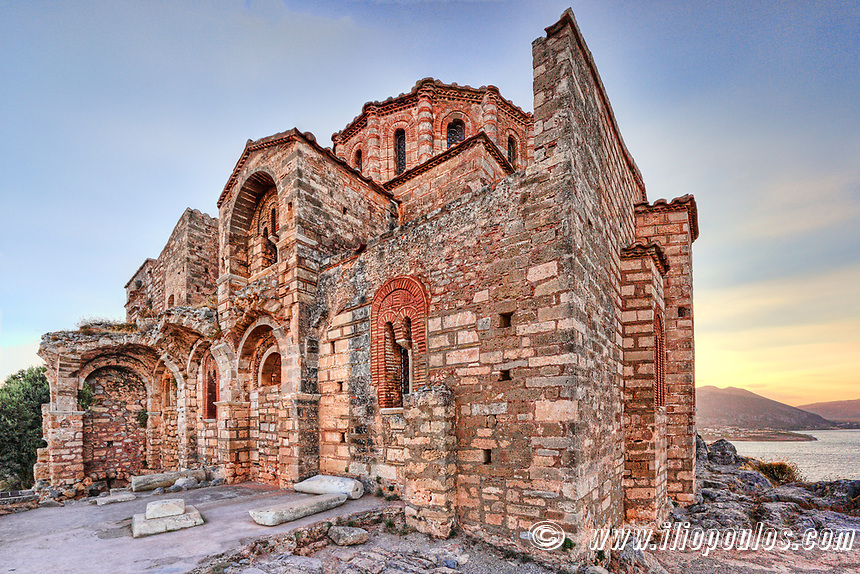 Agia Sofia church in the Byzantine upper town of Monemvasia in Greece