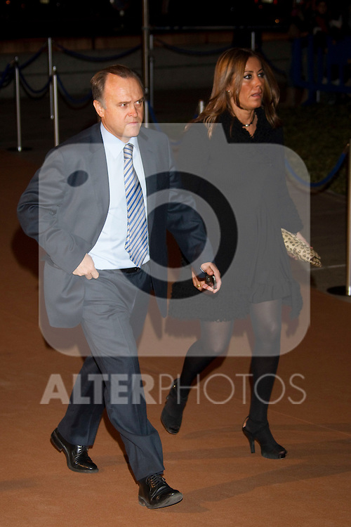 MADRID (04/11/2010).- Real Madrid Foundation held  its annual gala, Alma Awards 2010. Miguel Pardeza and wife...Photo: Cesar Cebolla / ALFAQUI