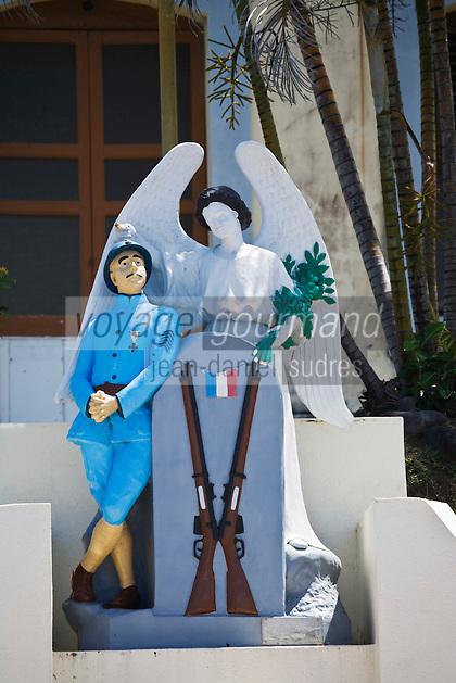 France/DOM/Martinique/Le Lorrain: Le Poilu de 1914 du monument au mort