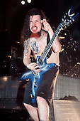 Pantera - guitarist Dimebag Darrell performing live at the Civic Hall, Wolverhampton, England - 15 Sep 1994 - Photo by: George Chin/IconicPix