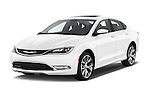 2015 Chrysler 200 C 4 Door Sedan Angular Front stock photos of front three quarter view