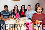 Cardiology Department of Kerry General Hospital Christmas Party at Bella Bia's on Friday Pictured .  Nazim Syed, Ann Donovan, Lorraine O'Donoghue, Cillian Sheehan, Binu Nair