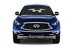 Car photography straight front view of a 2017 Infiniti QX70 3.7 5 Door SUV Front View