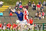 Tomas O Ciobhain PS Chorcha Dhuibhne goes past Greg Horan Tralee CBS  in the Corn Uí Mhuirí semi final in Killarney on Sunday