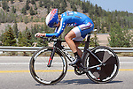 "August 121, 2015 - Breckenridge, Colorado, U.S. -  Twenty 16 rider, Kristin Armstrong, on her way to the time trial victory during the inaugural women's edition of the U.S. Pro Cycling Challenge, Breckenridge, Colorado.  Known as ""America's Race,"" the USA Pro Challenge takes place August 17-23, 2015 and for the first time will highlight women's cycling through an inaugural  three-day invitation-only event that will feature many of the USA's top women cyclists."