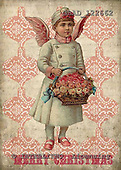 Addy, CHRISTMAS CHILDREN, paintings,+angels, vintage,++++,GBAD122662,#XK# Weihnachten, nostalgisch, Navidad, nostálgico, illustrations, pinturas